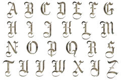 Scrapbooking Alphabet Medieval Design Stock Photo