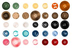 Scrapbooking Buttons Stock Images