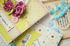 Scrapbooking card Royalty Free Stock Photography