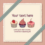 Scrapbooking card with cupcakes Stock Photo