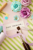 Scrapbooking craft tools Stock Images