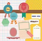 Scrapbooking Elements. Perfect for digital collage, scrapbooking, paper goods, invitations and personal use vector illustration
