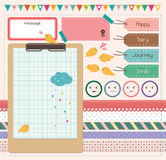 Scrapbooking Elements. Perfect for digital collage, scrapbooking, paper goods, invitations and personal use stock illustration