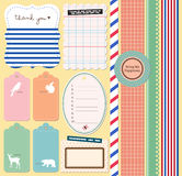 Scrapbooking Elements. Design your own Scrapbook Journal, Card Making, Invitation Royalty Free Stock Photo