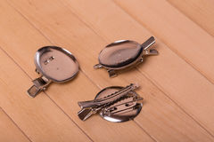 Scrapbooking elements The basis for creating brooches. Stock Photography
