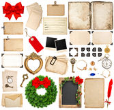 Scrapbooking elements for christmas holidays greetings Royalty Free Stock Photo