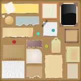 Scrapbooking Elements - Papers Stock Photos