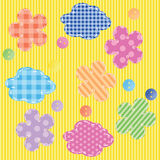 Scrapbooking elements seamless pattern Stock Photo