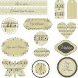 Scrapbooking elements. Set of elegant scrapbooking elements on isolated background Royalty Free Stock Photo