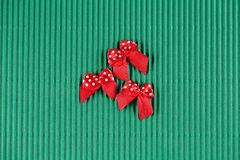 Scrapbooking elements Small bows on the wood backgraund. Royalty Free Stock Photography