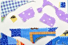 Scrapbooking Fabrics Shapes Royalty Free Stock Photography