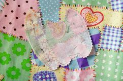 Scrapbooking Fabrics Shapes Royalty Free Stock Photography