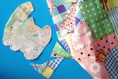 Scrapbooking Fabrics Shapes Stock Images