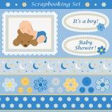 Scrapbooking fijó para el bebé Fotografía de archivo libre de regalías