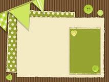 Scrapbooking green layout vector illustration