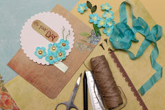 Scrapbooking stock illustration
