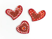 Scrapbooking heart. Royalty Free Stock Image