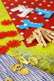 scrapbooking hjälpmedel för hantverk Arkivfoto
