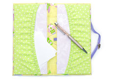 Scrapbooking holder for travel documents Stock Photos