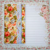 Scrapbooking holder for travel documents on floral paper Stock Images