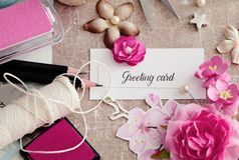 Scrapbooking karta zdjęcia royalty free