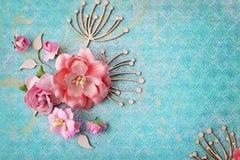 Scrapbooking kort Royaltyfria Bilder