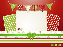 Scrapbooking lay-out 2 van Kerstmis Stock Foto's