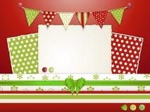 Scrapbooking lay-out 2 van Kerstmis Stock Foto's