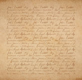 Scrapbooking letter. Vintage old paper texture with handwriting letter with poems background, scrapbooking victorian style page, hand drawn vector illustration Royalty Free Stock Photos
