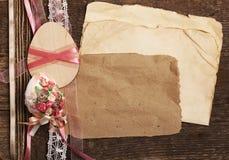 Scrapbooking, marco de pascua Imágenes de archivo libres de regalías