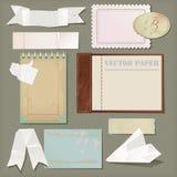 Scrapbooking pappersuppsättning för vektor Arkivbilder