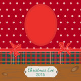 Scrapbooking photoframe Christmas Eve. Vector Illustration EPS 10 Stock Image