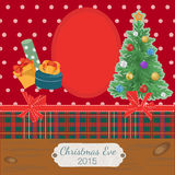 Scrapbooking photoframe Christmas Tree. Scrapbooking photoframe with Christmas Tree and Colorful Gift Boxes Stock Photos