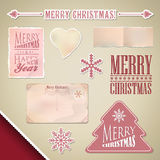 Scrapbooking plaatste: Vrolijke Kerstmis Stock Fotografie