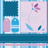 Scrapbooking Set. Lovely background, ribbons and an embroidery for scrapbooking Stock Images