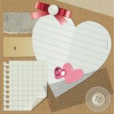 Scrapbooking set Royalty Free Stock Photos