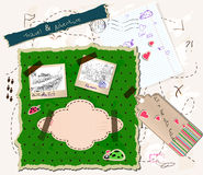 Scrapbooking set. Stock Photos