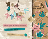 Scrapbooking Set About Autumn. Royalty Free Stock Photography