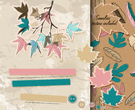 Scrapbooking set about autumn. Royalty Free Stock Photos