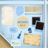 Scrapbooking Set: I love music Royalty Free Stock Photo