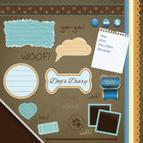 Scrapbooking Set: My Dog's Diary Royalty Free Stock Photography