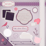 Scrapbooking Set: My Little Diary Royalty Free Stock Photos