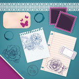 Scrapbooking Set: My Little Diary Stock Photography