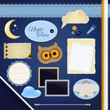 Scrapbooking Set: Night Time Royalty Free Stock Photography