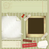 Scrapbooking set - old paper, photo fram Royalty Free Stock Photos