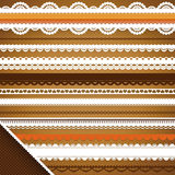 Scrapbooking Set: Ornate ribbons Royalty Free Stock Photo