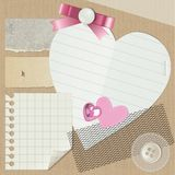 Scrapbooking set Royalty Free Stock Photography