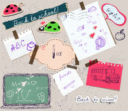 Scrapbooking set with school elements. Stock Images
