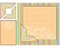 scrapbooking set tło elementy Ilustracja Wektor