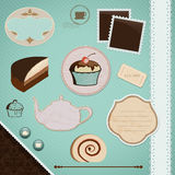 Scrapbooking Set: Tea Time Royalty Free Stock Photo